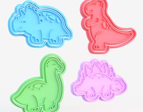 3D print model Dinosaur cookie cutter set of 4