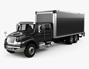 3D International Durastar Crew Cab Box Truck 2017
