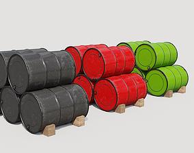 3D Metal barrels pbr