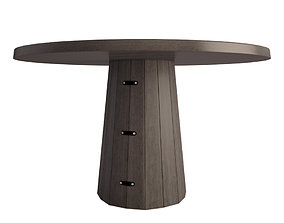 Container Wooden Table 3D