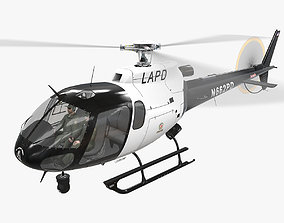 AS-350 LAPD Animated 3D model