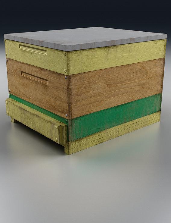 Old Wooden Box Render