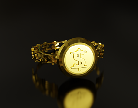 3D printable model Dollar Sign Ring