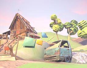 3D model Low Poly Cabin