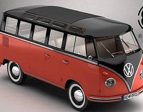 3D Volkswagen Type 2 Samba 1959