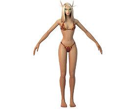Bloodelf Female Full Rig and HumanIK 3D asset