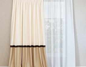 3D Curtains with puffs and tulle