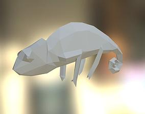 3D print model Low Poly chameleon