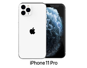 iphone Apple iPhone 11 Pro Silver 3D