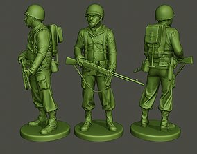 American soldier ww2 stand guard A3 3D printable model