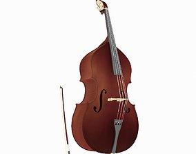Double bass audio 3D model