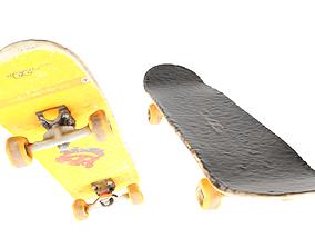 3D model Yellow skateboard 21