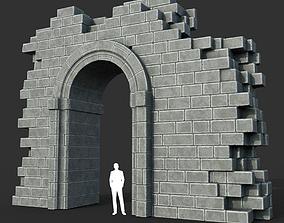 Low poly Ancient Roman Ruin Construction R1 - 3D asset 1