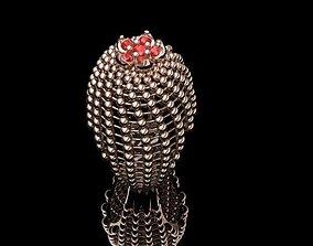 3D printable model flower ring round