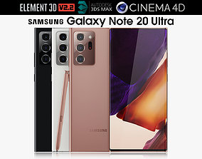 3D Samsung Galaxy Note 20 Ultra all colors