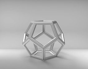 Empty dodecahedron with chamfer 3D print model