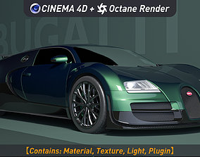 black bugatti veyron ss 3D model