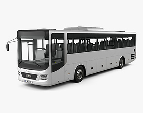 3D model MAN Lions Intercity Bus with HQ interior 2015