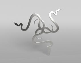3D model Razer Logo v2 004