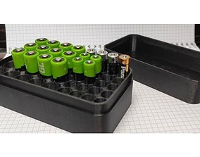 Battery Storage Box AA and AAA 3D model