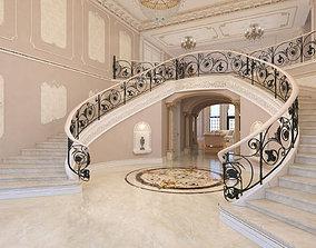 3D Interior classical mansion 2
