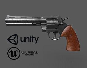 3D asset 357 Magnum pistol
