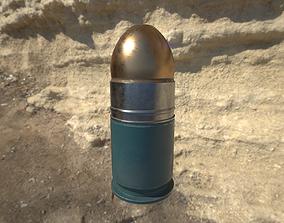 40mm grenade M3XX 3D asset