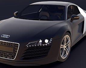 Audi R8 3D asset rigged