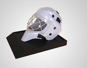 Ice Hockey Goalie Helmet 3D Print High Detail 1