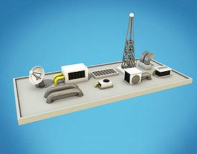 Cartoon Roof Technics 3D model