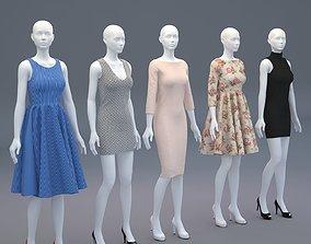 mannequin 3D Mannequin Woman Cloth Model For Shop vol2