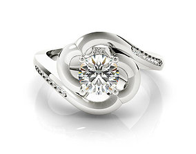 rhino 3d jewelry wedding ring and engagement ring 3dm 1