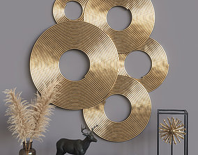 room Golden decorative set 3D