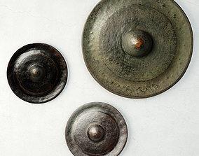 laos 3D 19th Century Laos Bronze Gongs 2