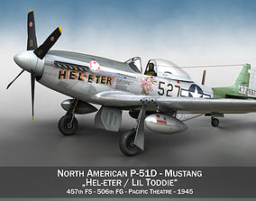 airforce 3D model North American P-51D - Heleter