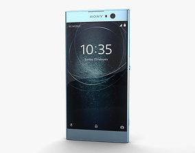 Sony Xperia XA2 Blue 3D model