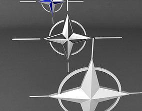 Nato logo symbol low poly pack 3D
