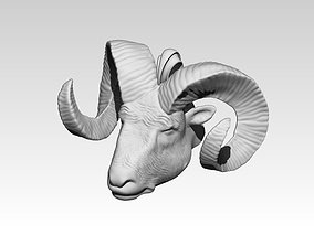 Ram head pendant necklace jewel 3D printable model 1