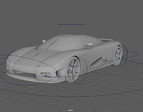 3D asset Koenigseg CCX Low-Poly and Rigged