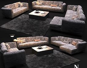 Sofa in modern style NATUZZI Armonia 2788 3D model