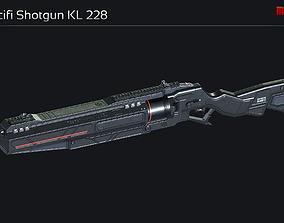Scifi Shotgun KL 228 3D asset