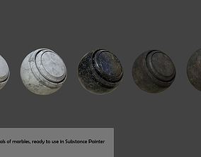 Substance Painter Smart Materials of Marbles matrials 3D