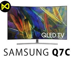 3D model Samsung Q7C 55 Inch Curved QLED 4K TV
