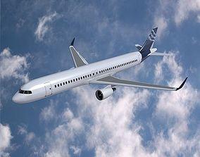 3D model Airbus A320-100 commercial jetliner