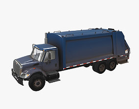 3D asset Garbage Truck International 7400