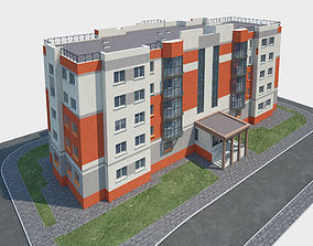 Residential Apartment Building 3D model