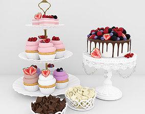 sweets 3D Berry dessert