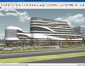 Sketchup Commercial and office complex A5 3D model