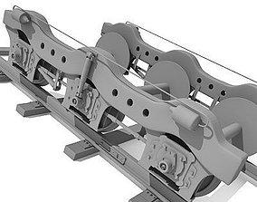 3D No texture Train Wheels 2