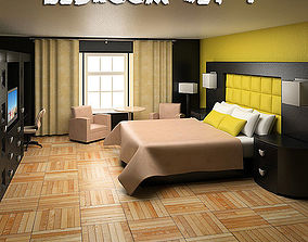 3D model Bedroom Furniture 07 Set